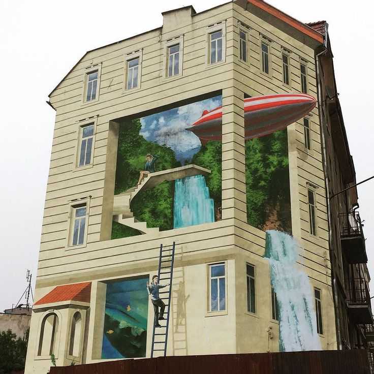 #mural #katowice #building #beautiful #realistic #art #betterthangraffiti #iwantmore