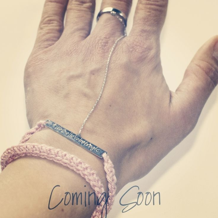We love our new handmade silver bracering in pale pink for spring/summer 2015 collection!