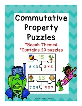 Commutative Property of Multiplication Puzzles CCSS 3.OA.B.5