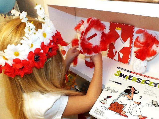 Prace Plastyczne Na Swieto Niepodleglosci Blondynki Kreatywnie Crafts For Kids Crafts Diy