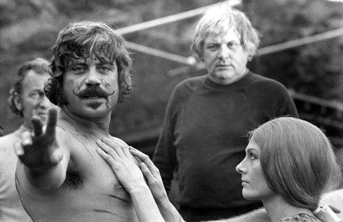 The Devils - Oliver Reed, Ken Russell and Vanessa Redgrave on the set, 1971| Tumblr