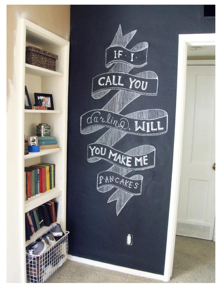Best 25 chalkboard paint walls ideas on pinterest chalk - Chalk paint wall ideas ...