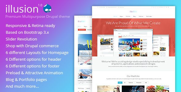 illusion - Premium Multipurpose Drupal Theme
