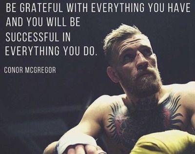 conor mcgregor | Attitude of GRATITUDE