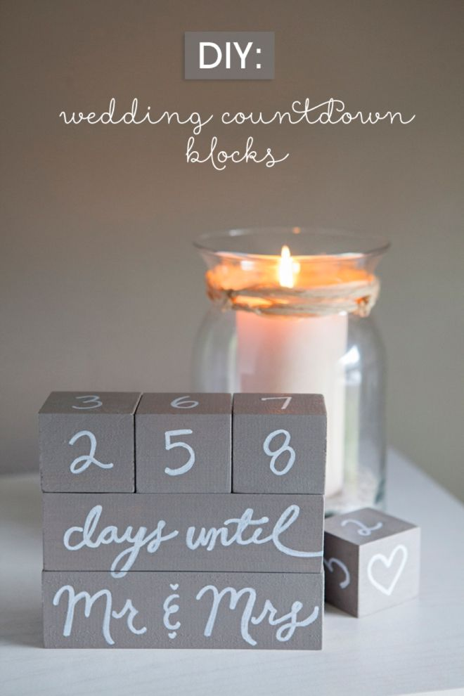 DIY Wedding Countdown Blocks via @jencarreiro