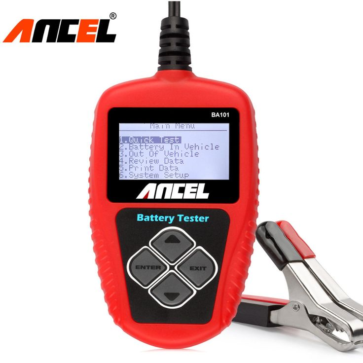 Ancel BA101 Car Battery Tester 12V Digital Analyzer 2000CCA 220AH with Japanese Korea Multi Languages BAD Cell Test Car Tools <3 View the item in details by clicking the image
