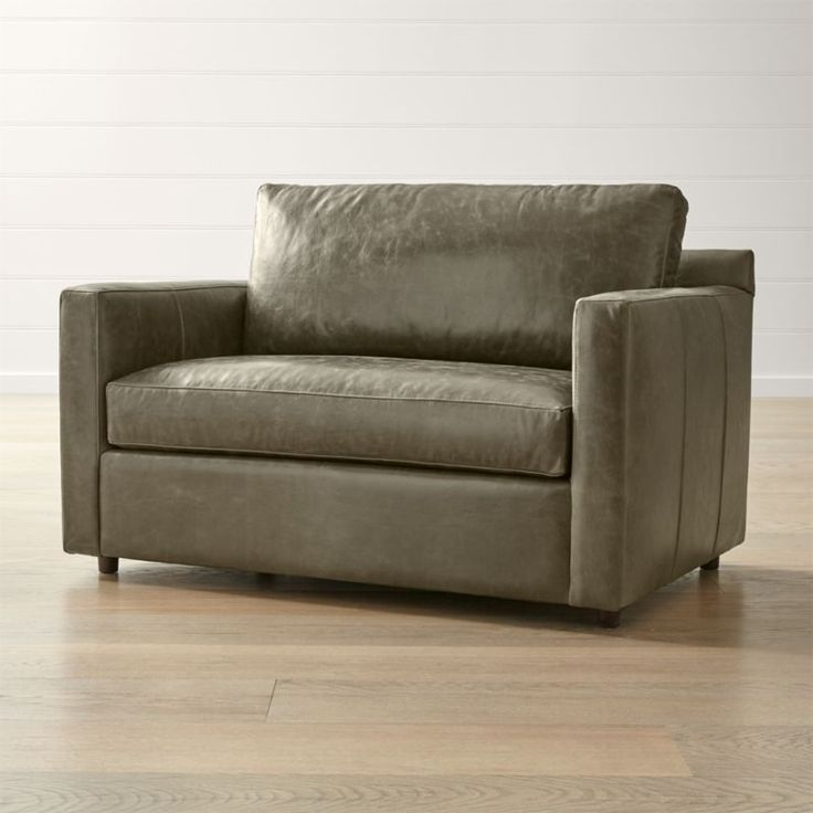 Barrett leather twin sleeper reviews crate and barrel