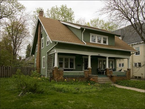 350 best elevations exteriors images on pinterest for Craftsman roofing