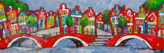 17 beste afbeeldingen over schilderijen van stadsgezichten paintings of cityscapes op - Schilderij kooi d trap ...