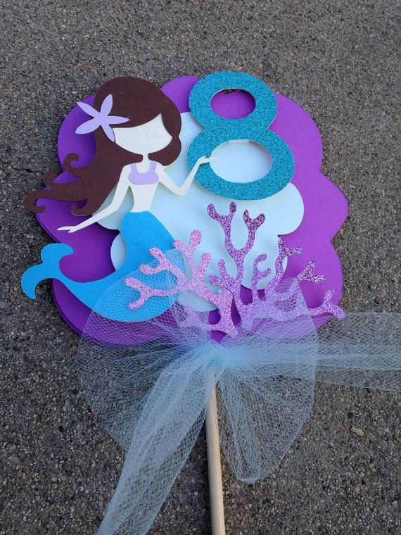 Hey, I found this really awesome Etsy listing at https://www.etsy.com/listing/268176399/mermaid-cake-topper-mermaid-centerpiece