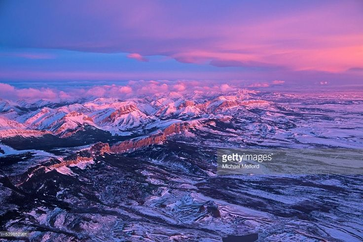 Stock Photo : The Front Range of the Rocky Mountains in Montana.