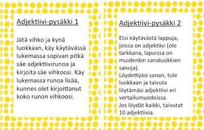 Adjektiivipysäkki 1-2.