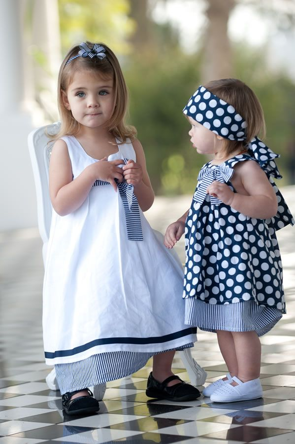 Navy festive collection by Phoebe and Floyd. Girls' dresses, available from Beach House Interiors  Homeware, Hermanus.