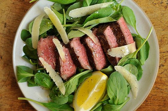 Steak with Arugula, Lemon and Parmesan recipe from Food52