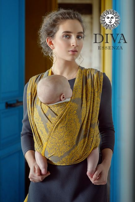 Diva Essenza 100% cotton Woven Wrap Savana two colors double sided woven wrap. Great quality and affordable price. Free shipping in Canada and worldwide!