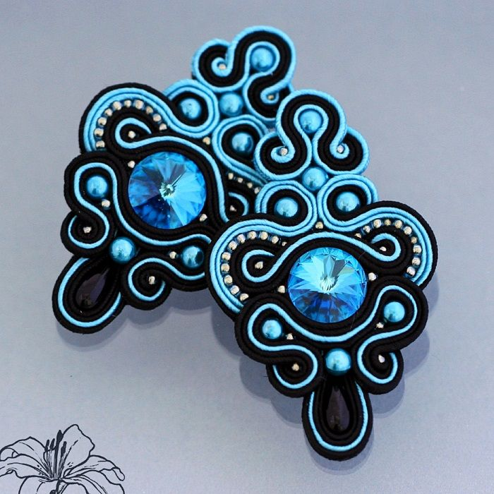 soutache earrings | author: Zuzana Hampelova Valesova (Lillian Bann)…