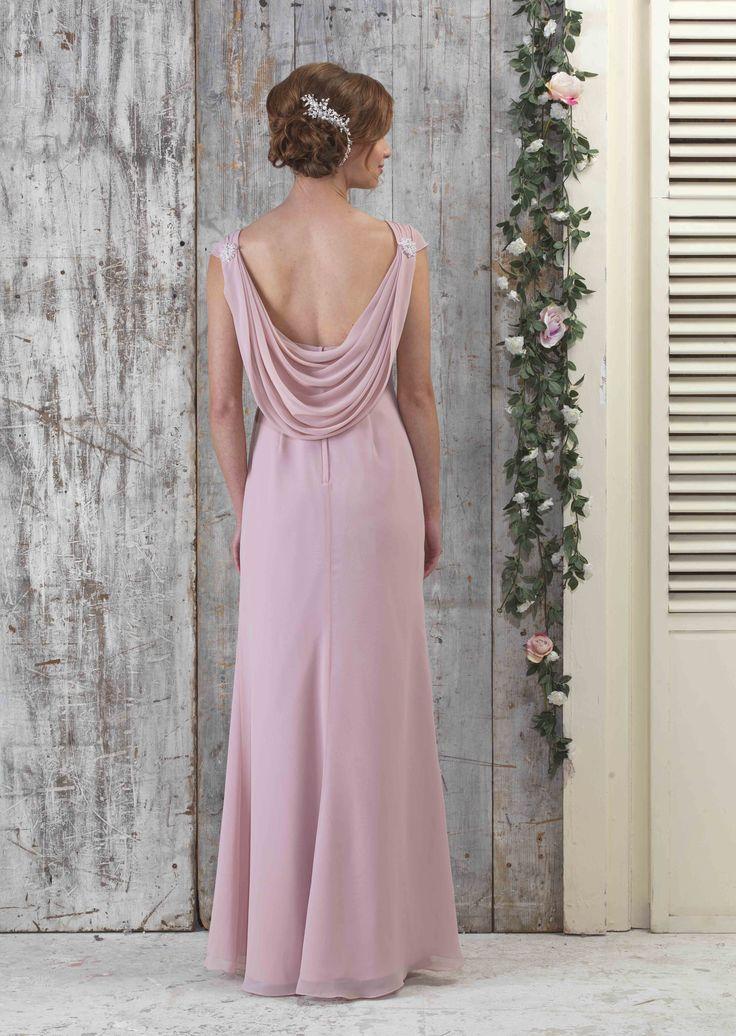 EN064 with Pearl Beading in Vintage Rose