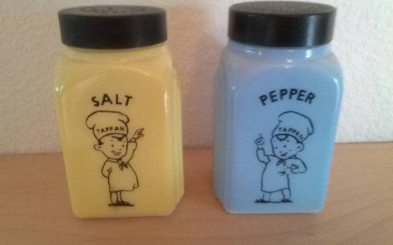 Vintage Tappan Chefs Salt and Pepper Milk by divinedecorating