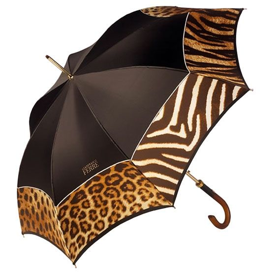 "<font size=""2"">Ferre Milano animal print umbrella. This is a glamorous chic automatic brown umbrella with an animal print border.</font> <font size=""2"">These umbrellas are a great fashion accessory, they are beautiful Italian designs and you will be the envy of everyone around you with one of these.<br></font><br><font size=""1"">Product No: GF 250-2</font><br><br><font size=""2""><span style=""font-weight: bold;"">Please note:</span> <font color=""#eb1b87"">Delivery on this item will be between 3…"