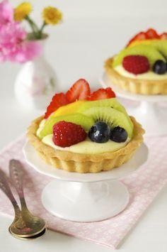 ✿⊱❥ Tortinhas de frutas frescas | Vídeos e Receitas de Sobremesas
