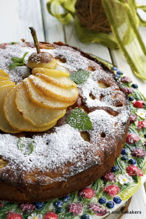 Ricotta & Pear Cake from @Rowena Dumlao Giardina | Apron and Sneakers