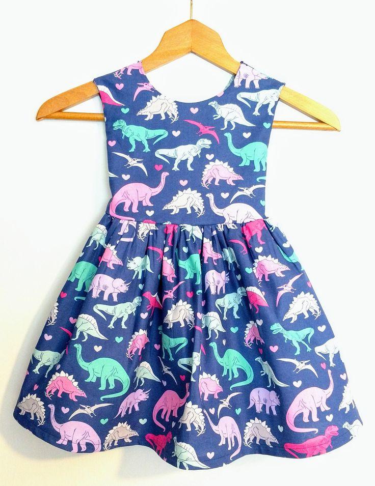 Dinosaur dress, dinosaur party dress,birthday dress, sundress, child dress, toddler dress, toddler dinosaur dress,child clothing,baby dress by MightyTotsDressShop on Etsy