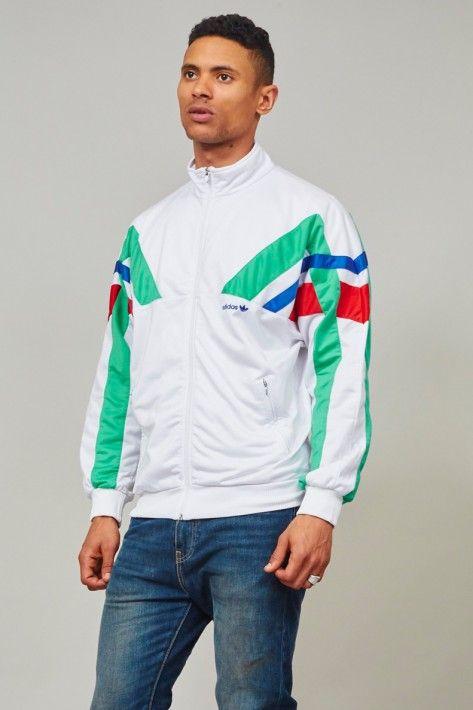 Vintage 1980's classic white sports Adidas jacket
