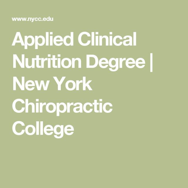 Applied Clinical Nutrition Degree | New York Chiropractic College