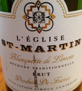 We have firmly entered the budget sparkling wine category here at circa $12 per bottle, yet the result isn't too bad at all.  The wine, the L'Église St-Martin Blanquette de Limoux, is a sparkling wine from the Limoux region in the Languedoc and is made using the more quality oriented méthode traditionnelle.    Predominantly mauzac, the blend also sees some chardonnay and chenin blanc in the mix.  This sparkling wine is bright in the glass, lemon in colour, has a pale intensity and has medium…
