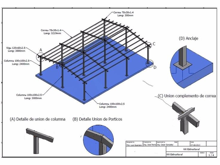 25 melhores ideias de estructuras para techos no - Estructuras de madera para techos ...