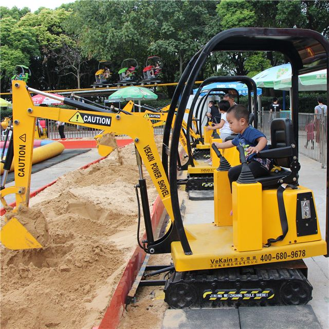 China Supplier Vekain Kids Mini Electric Kids Excavator Rides Amusement Park Rides Kids Toy Games Electric Mini Amusement Park Excavator Amusement Park Rides