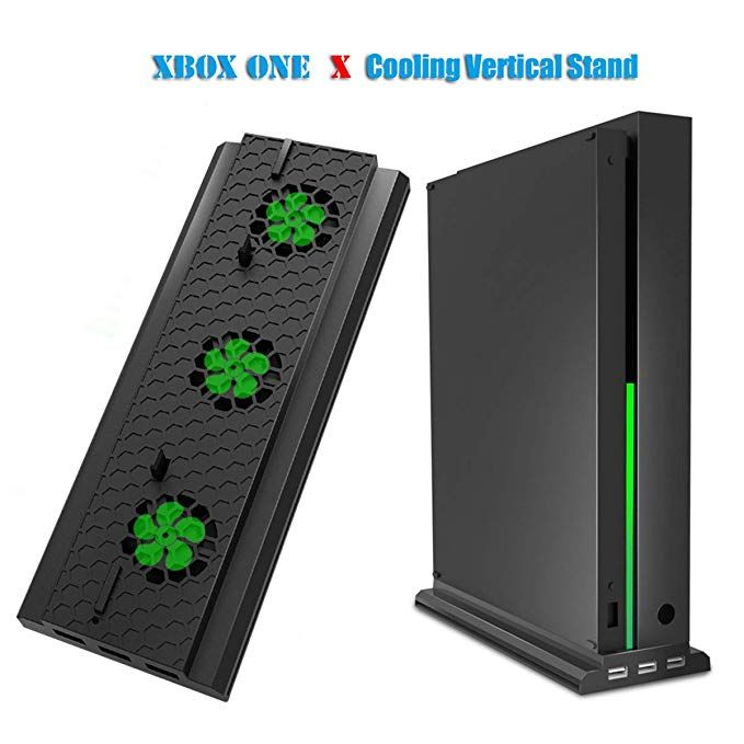 Dobe Cooling Fan For Xbox One X Vertical Stand With 3 Air Vents 2