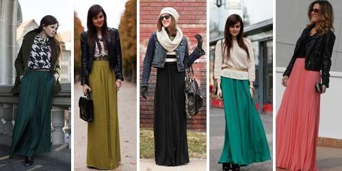 Стиль длинная юбка и ботинки