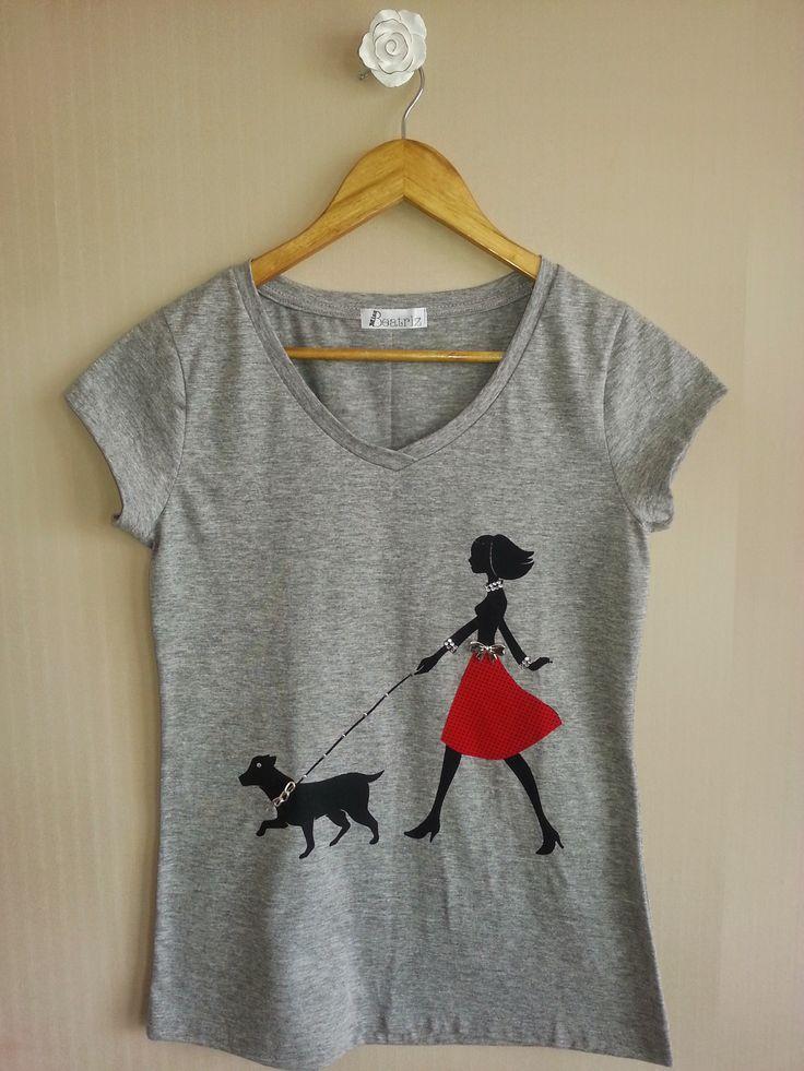 Camiseta Miss and Dog - www.missbeatriz.com.br