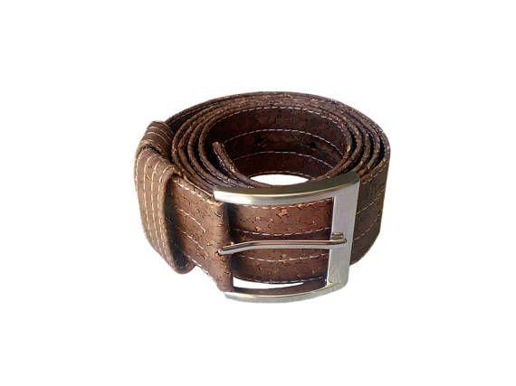Cork Belt Brown Cork Belt Vegan Cork Belt for Men Brown belt