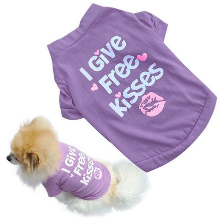 "Small Dog Summer Shirt ""I Give Free Kisses"" – PawzOutlet"