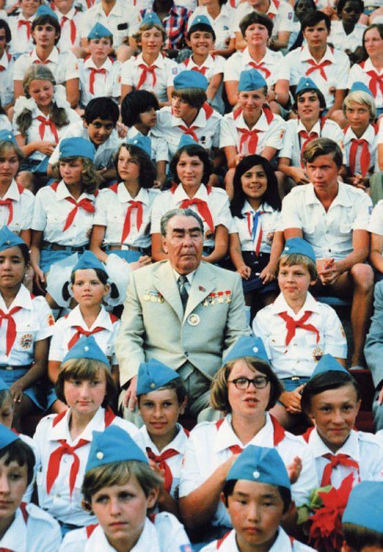 Leonid Brezhnev visiting Artekovtsy.