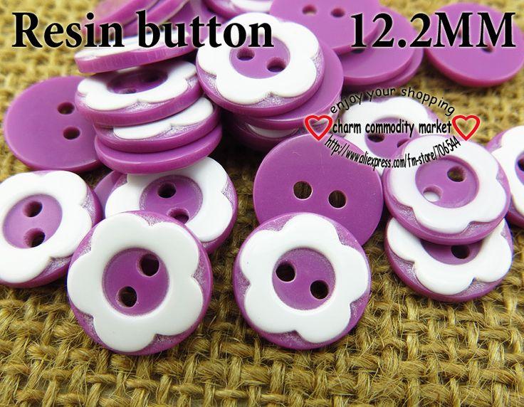 200PCS purple resic button flower12.2MM children coat buttons bulk clothes fit finding R-134-8 $2,98