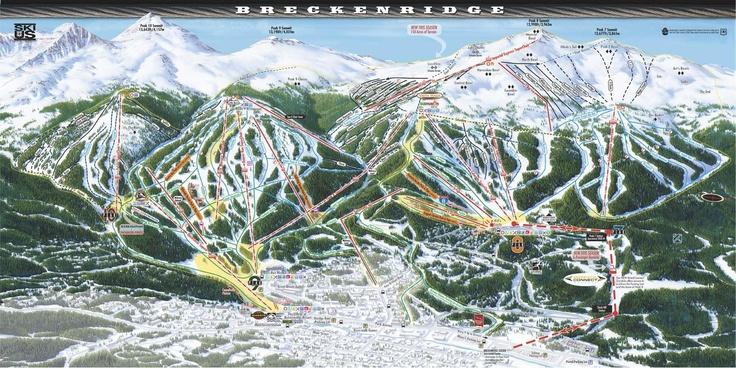 Breckenridge Ski Area Trail Map