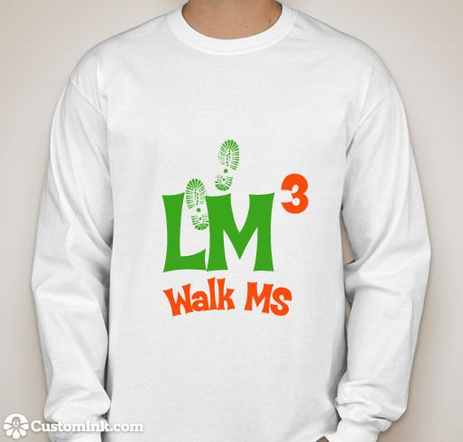 ms walk long sleeve whit shirt