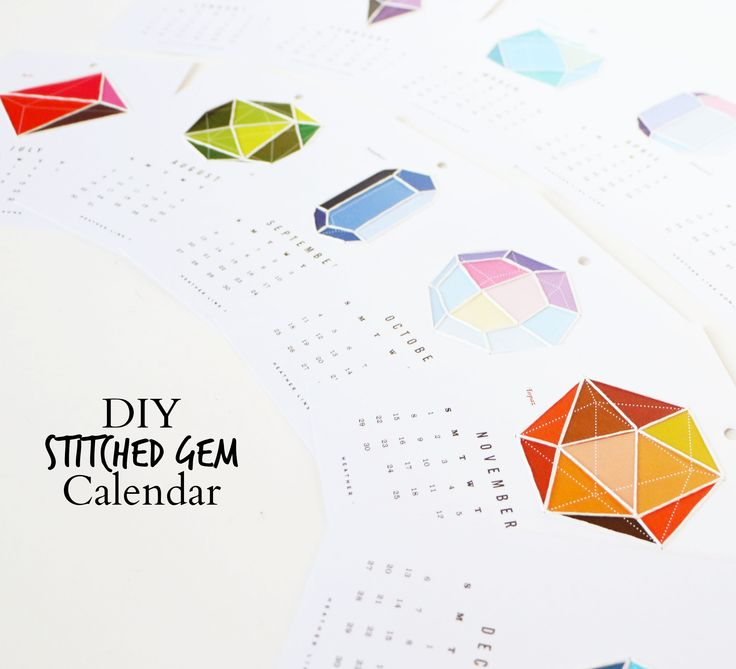 Stitch up this cute Heather Lins 2015 Calendar! I loved the looked of stitched paper! Discount Craft Supplies | Up to 70% Off | Blitsy.com