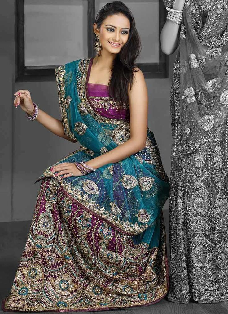 Enchanting Net Lehenga Saree