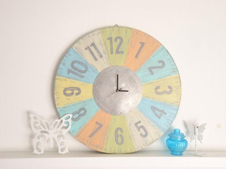 Reloj Retro Grande Poné un toque muy especial a tu casa ! Diámetro 60 cm