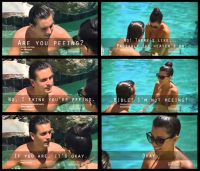 scott disick and kourtney kardashian lol