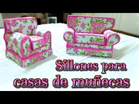 Muebles para casas de muñecas, sillones de goma Eva o foami - Isa ❤️ - YouTube