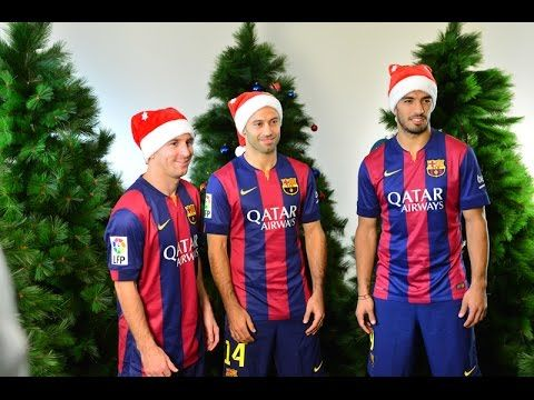 #fcbarcelona in a new video wishes everyone Merry Christmas