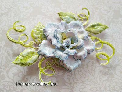 Papierowo zakręcona : Niebieska róża