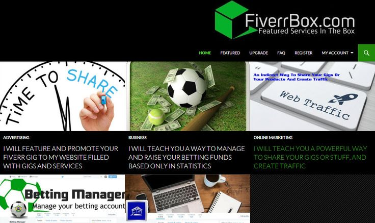Fiverr Gigs Directory. Submit Your Fiverr Gigs For Free And Gain Visibility To Your Gigs.  http://www.fiverrbox.com