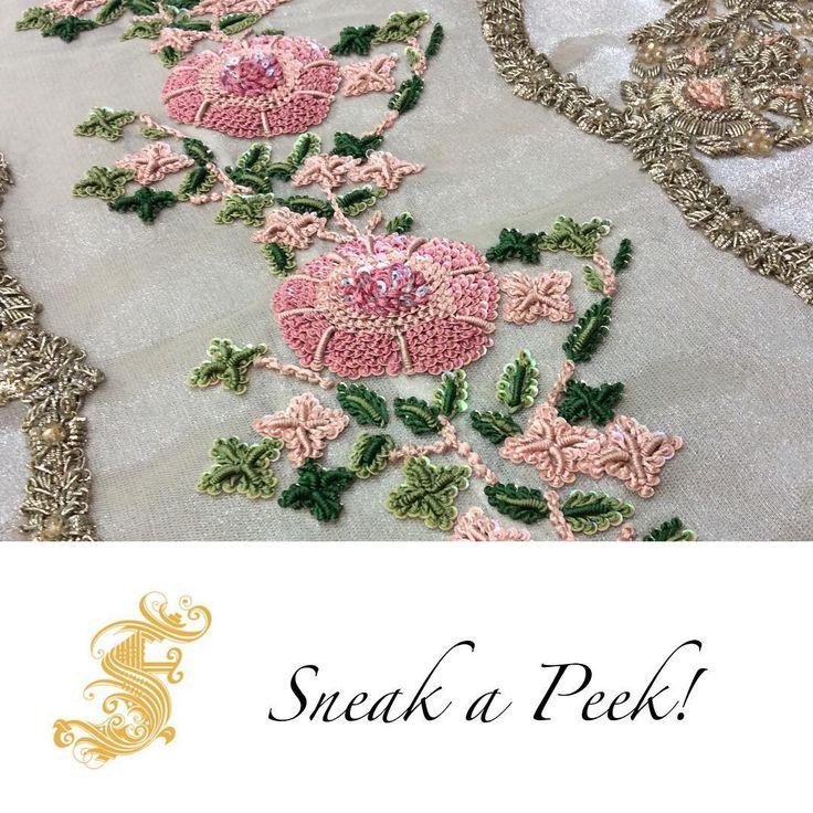 """""""Sneak a peek of #SairaShakira latest bridal gown in making!!! #BridalSeason #CallingAllBridesToBe"""""""