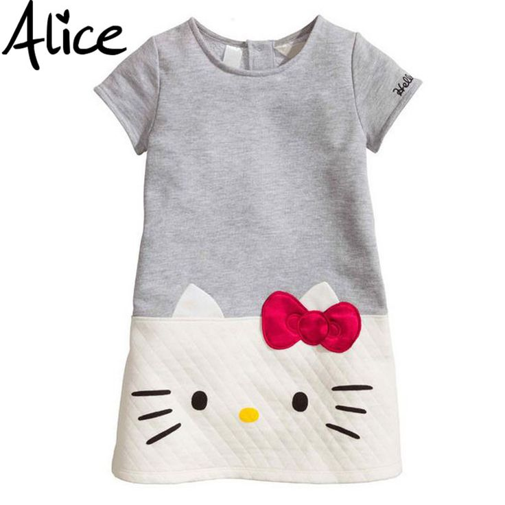 Hello Kitty Baby Girls Dresses Kids Clothes 2016 Brand Children Dress For Girls Clothes Princess Dress Christmas Vetement Fille with Free Shipping  have discount 10.0% Off sales